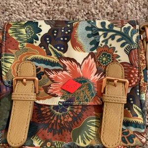 Oilily crossbag purse beige flower print